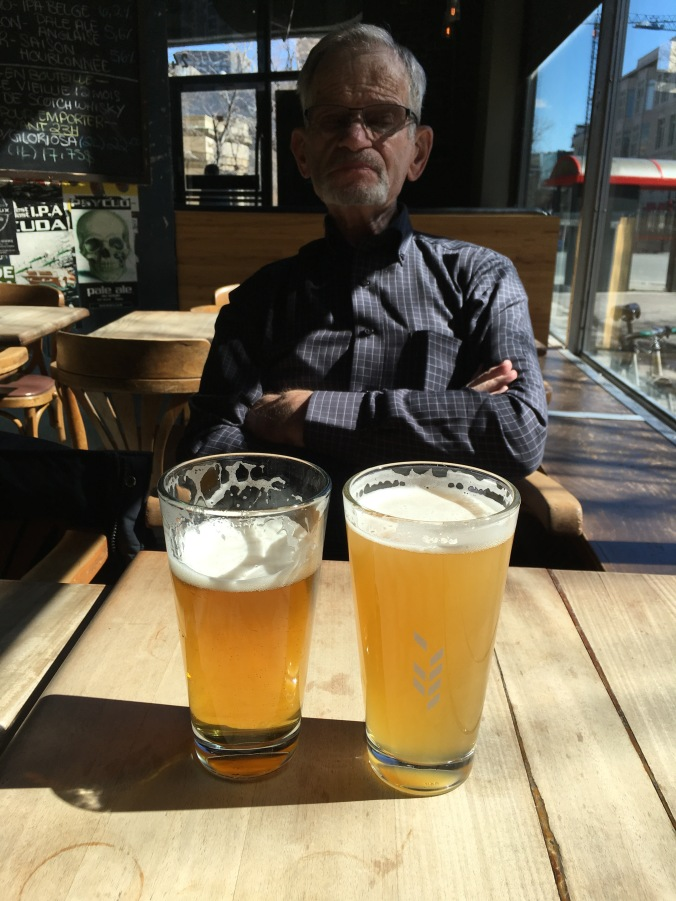 Beers with dad at Benelux