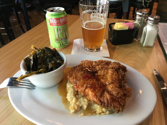 Fried chicken at Max Lager's