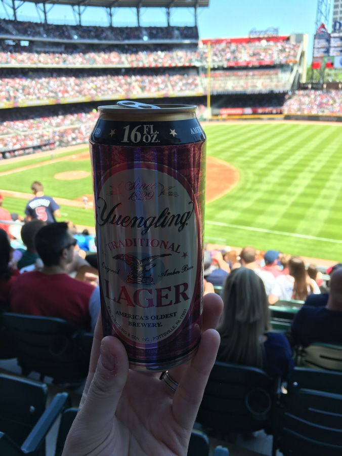Yuengling at the Braves game
