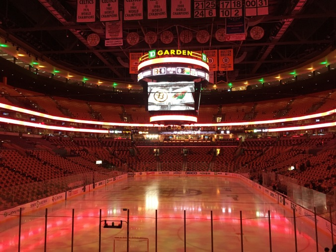 Bruins game in Boston