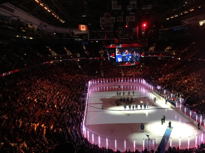 O Canada at Canucks game