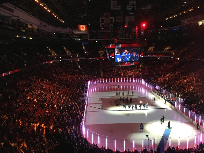 O Canada, Canucks game
